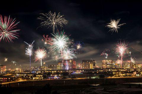 Fireworks in Reykjavik last year.
