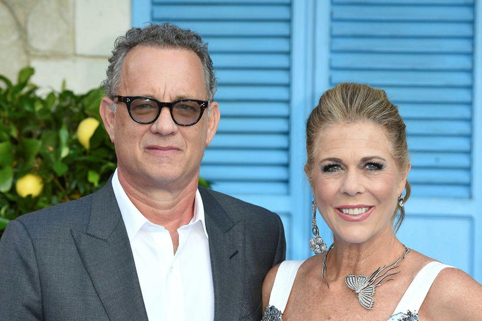 Hjónin Tom Hanks og Rita Wilson.