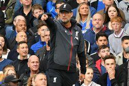 Jürgen Klopp stýrði sínum mönnum til sigurs gegn Chelsea á Stamford Bridge í gær.