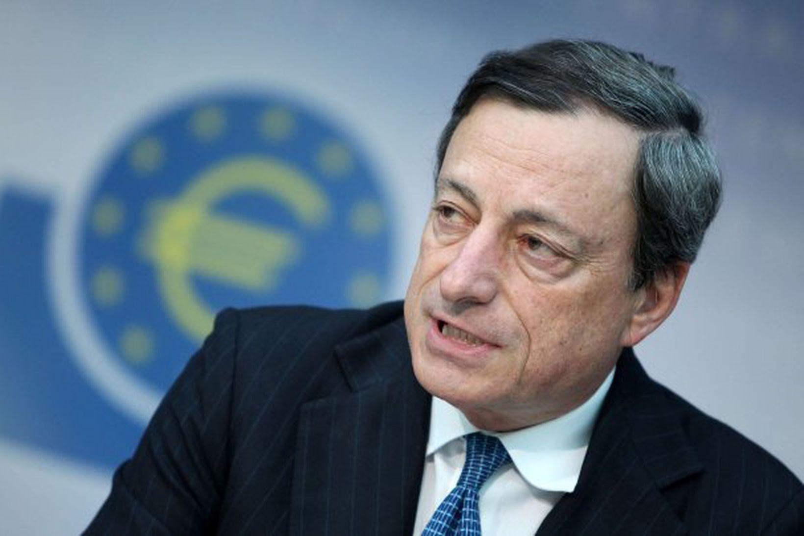 Mario Draghi, bankastjóri Evrópska seðlabankans.