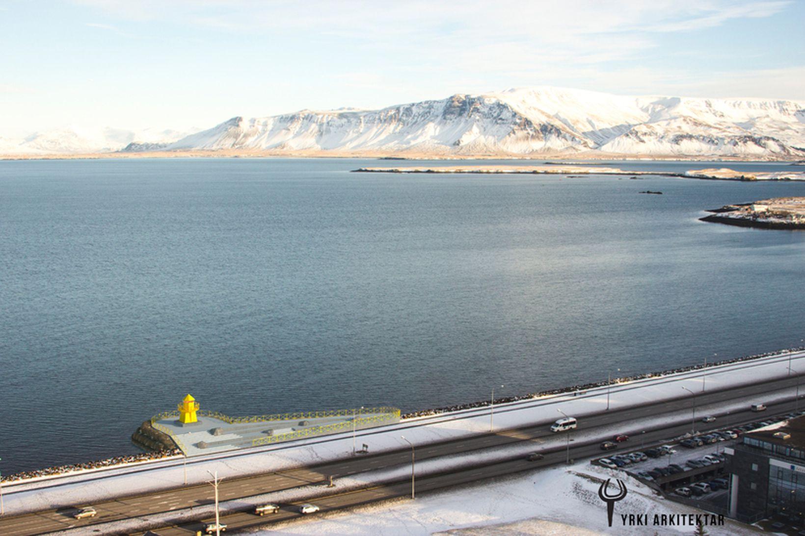 Reykjavíkurborg gerir ráð fyrir að svæðið nýtist sem áningarstaður þeirra …