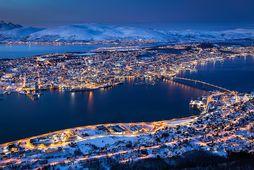 Bærinn Hamnvåg er ekki langt frá Tromsø í fylkinu Troms í Norður-Noregi.