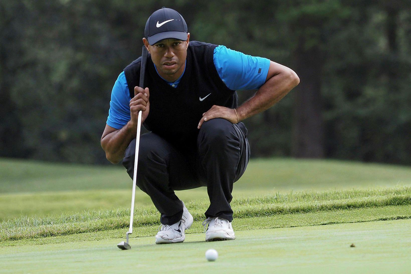 Tiger Woods hefur spilað frábært golf í Japan um helgina.
