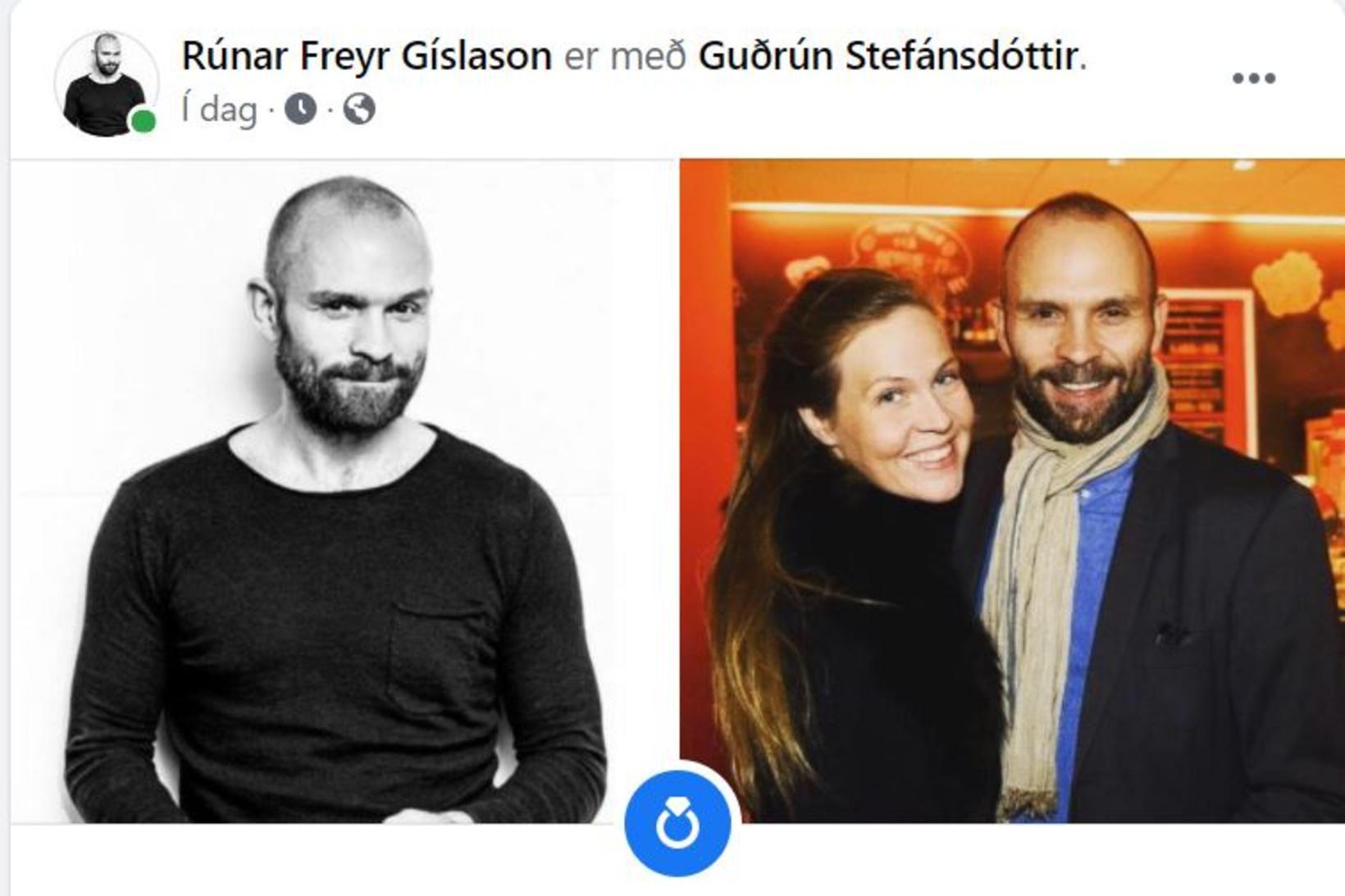 Rúnar Freyr Gíslason og Guðrún Jóna Stefánsdóttir eru trúlofuð.
