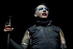 Brian Warner eða Marilyn Manson á sviði fyrir tveimur árum.