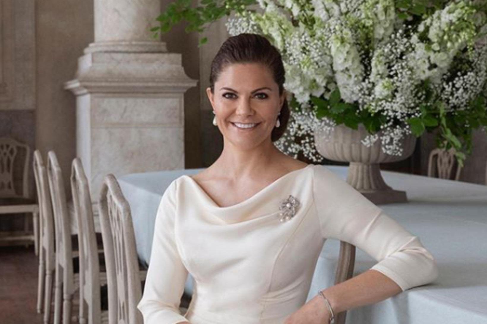 Viktoría krónprinsessa fagnaði 43 ára afmæli sínu.
