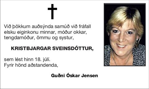 Kristbjargar Sveinsdóttur,