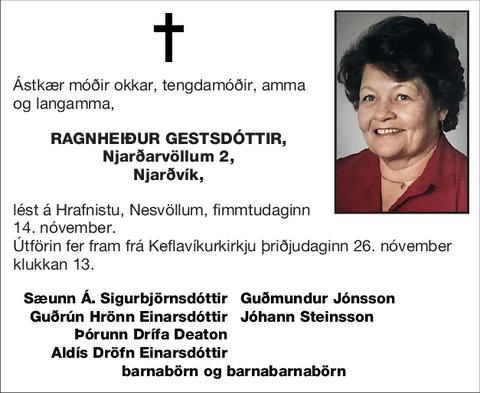 Ragnheiður Gestsdóttir,