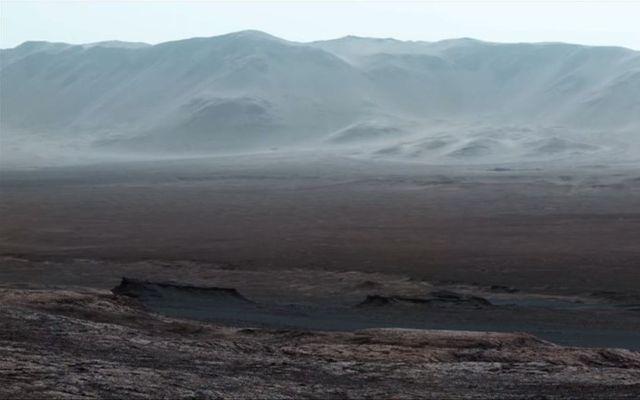 Svona er inni í gígnum á Mars