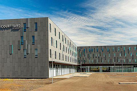 The new Marriott Courtyard hotel.