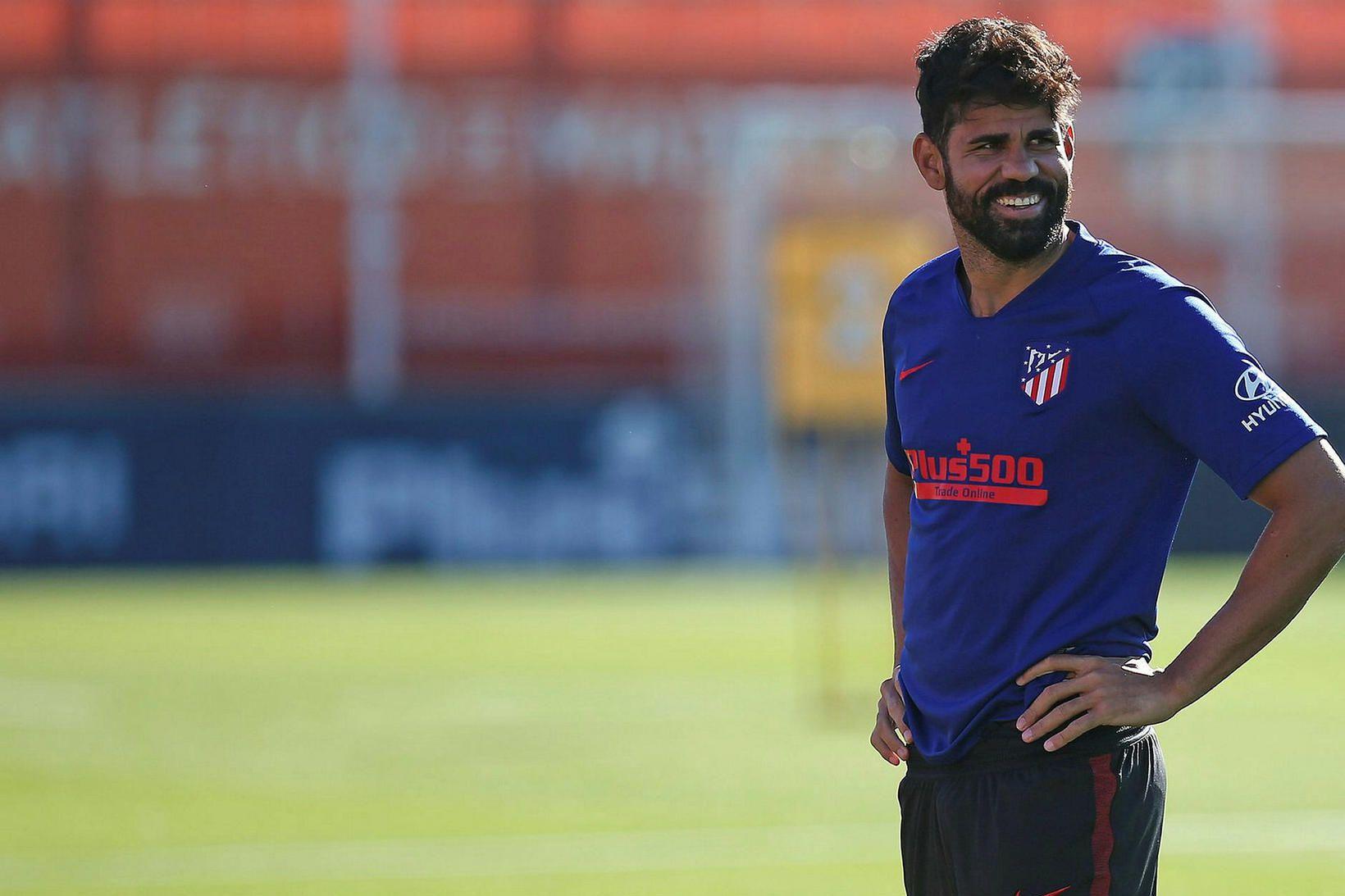 Diego Costa er mættur aftur til æfinga hjá Atlético Madríd.