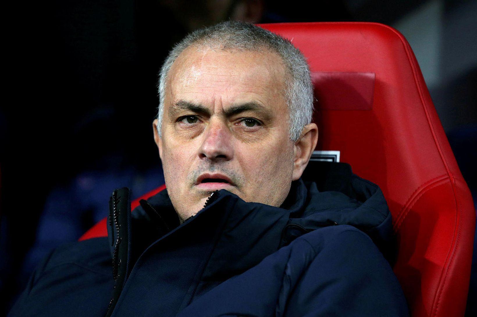 José Mourinho var með leikmann á séræfingu í almenningsgarði.
