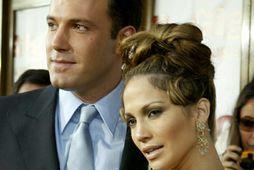 Ben Affleck og Jennifer Lopez árið 2003. Þau eru byrjuð saman aftur.
