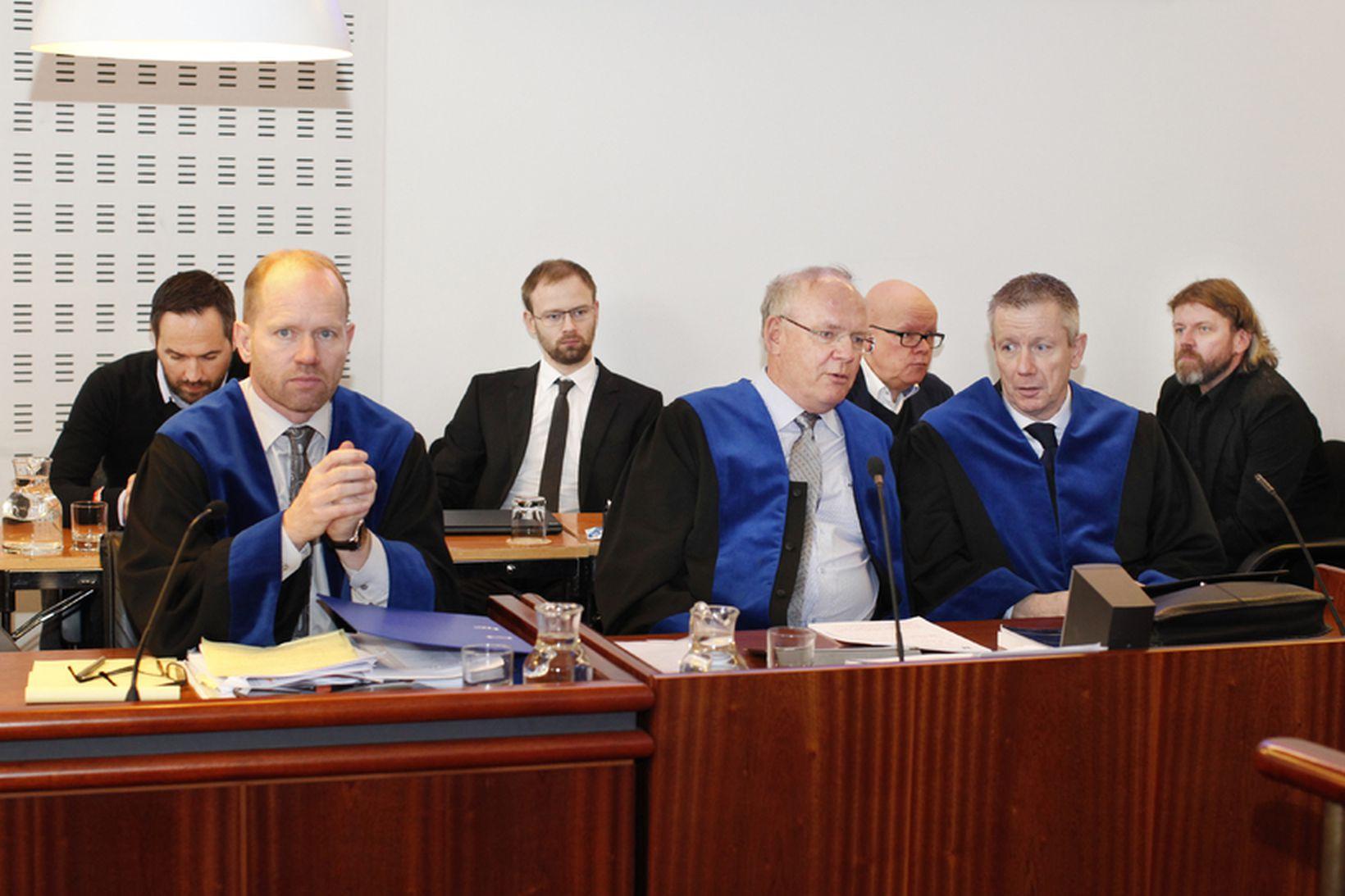 Frá aðalmeðferð Aurum-málsins í héraði í árið 2014. Á myndinni …