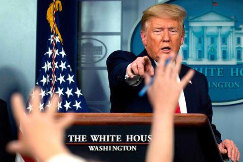 Trump segir það ekki fyrir sig að hylja vitin.