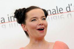 Björk Guðmundsdóttir var vel til höfð á götum New York-borgar.