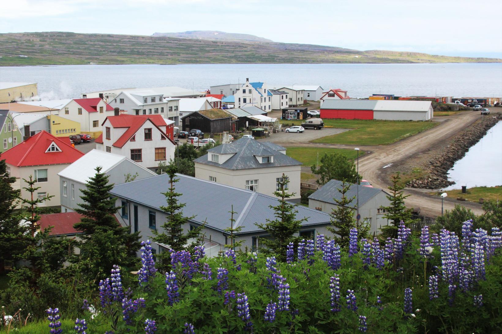 Bíll valt í grennd við Hólmavík.