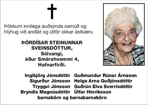 Þórdísar Steinunnar Sveinsdóttur,