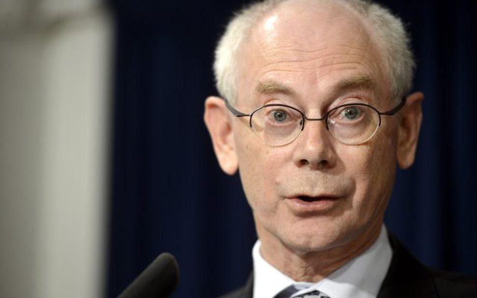 Forseti leiðtogaráðs Evrópusambandsins, Herman van Rompuy.