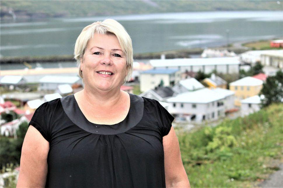 Lilja Rafney Magnúsdóttir heima á Suðureyri.
