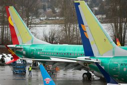 Boeing 737 Max farþegaþotur við verksmiðju Boeing í Renton í Washingtonríki. FAA er sagt hafa ...