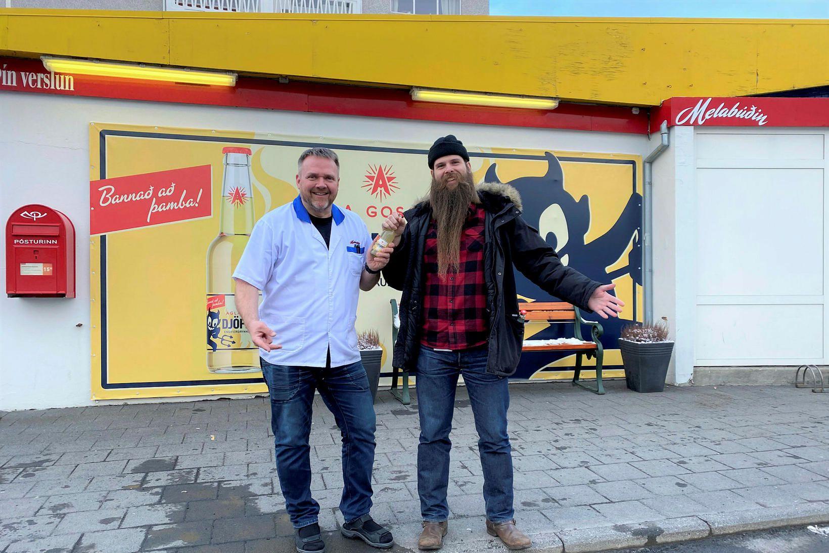 Pétur Alan Guðmundsson kaupmaður í Melabúðinni og Sturlaugur Jón Björnsson …