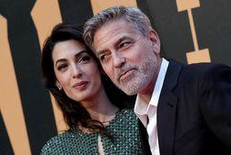 Það er líf og fjör á heimili Amal og George Clooney.