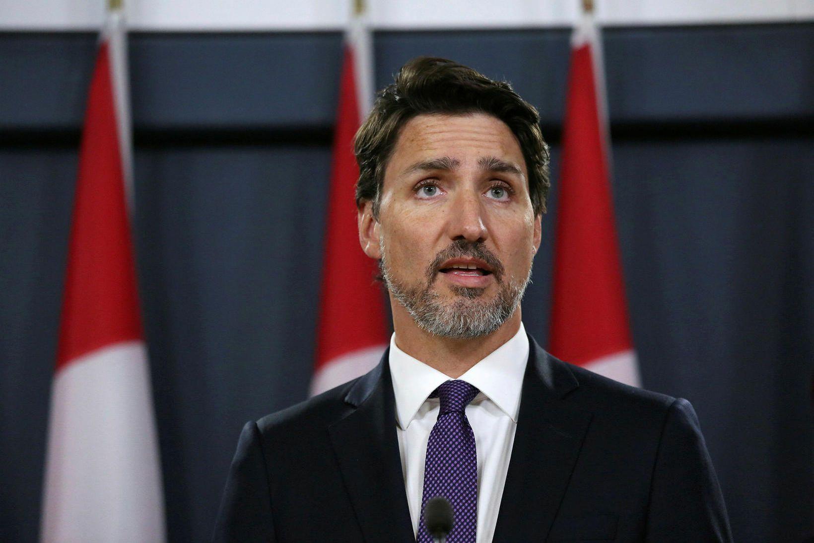 Justin Trudeau, forsætisráðherra Kanada, var ekki í húsinu þegar maðurinn …