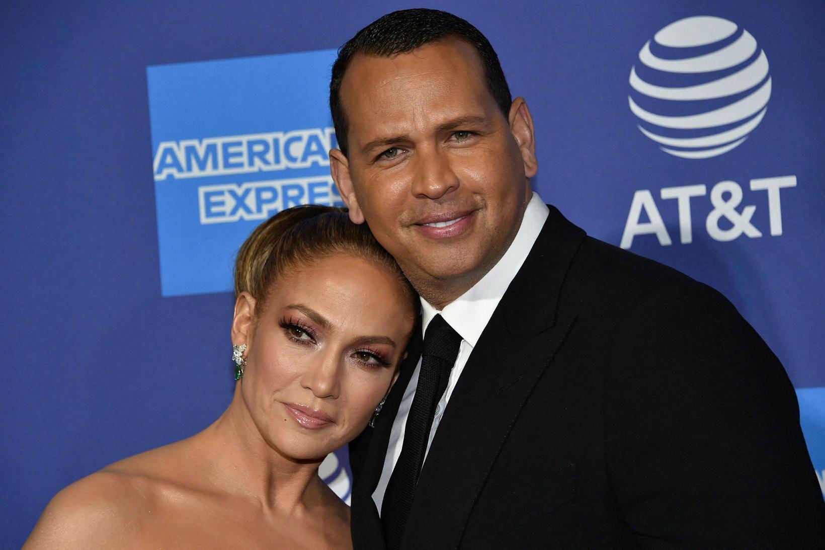Jennifer Lopez og Alex Rodriguez árið 2020.
