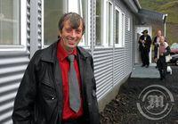 Óskar Guðmundsson hjá Eldafli við Kolviðarhól
