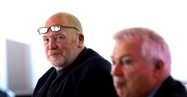 Arthur Bogason, formaður landssambands smábátaeigenda, kvaðst ánægður með fundinn. Örn Pálsson framkvæmdastjóri sambandsins í forgrunni.