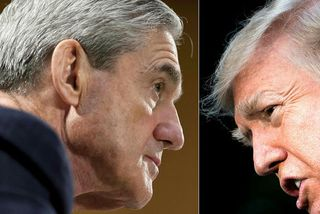 Robert Mueller og Donald Trump.