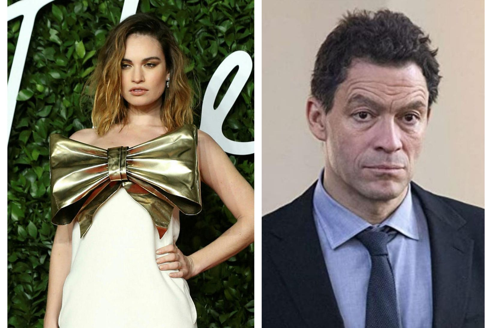 Lily James og Dominic West voru saman í Róm. Þau …