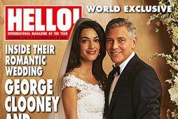 Amal Alamuddin og George Clooney prýddu forsíðu Hello!