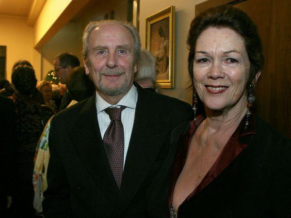 Jón Baldvin Hannibalsson and his wife Bryndís Schram.