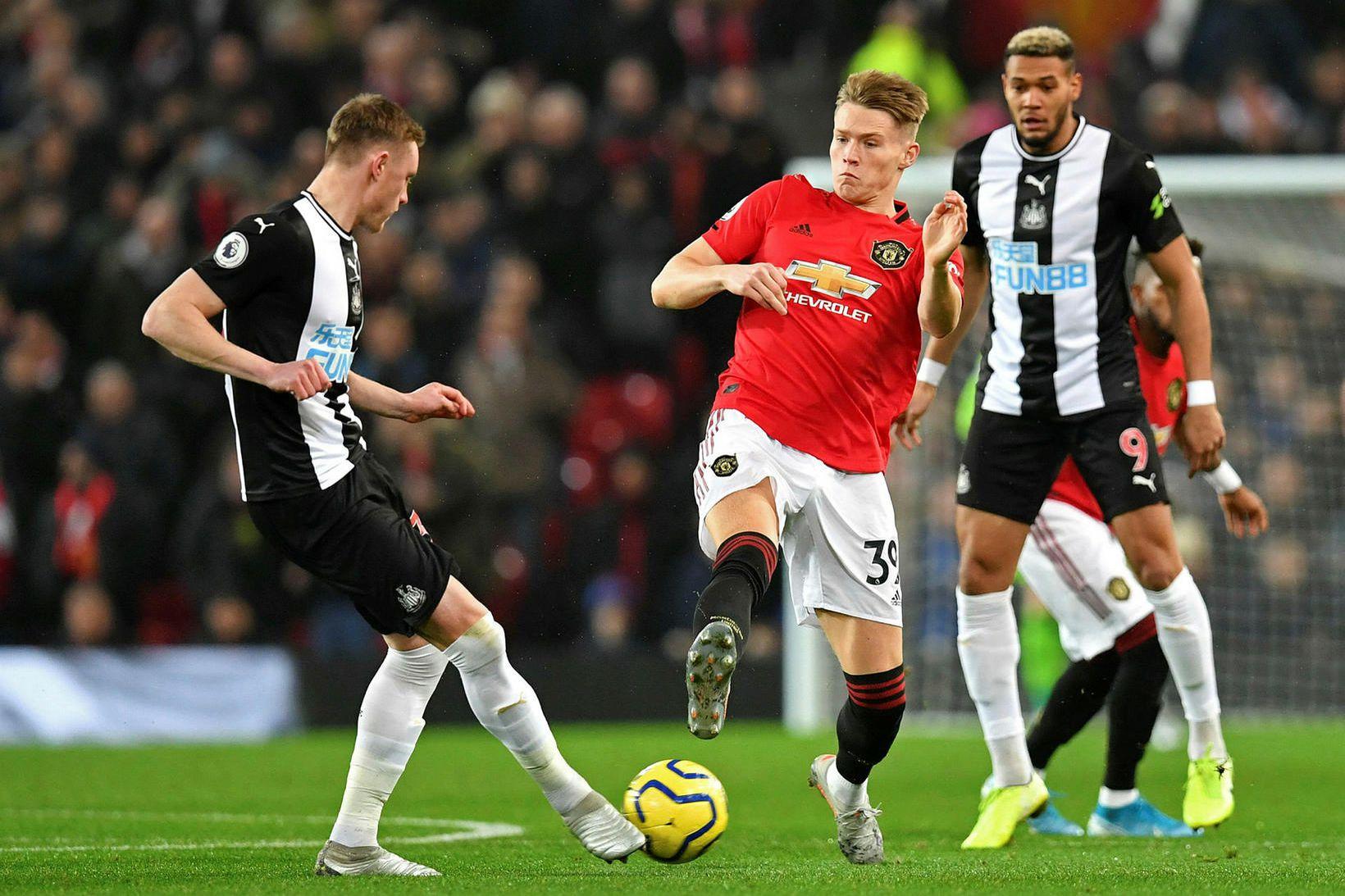 Scott McTominay spilaði síðast með Manchester United 26. desember.