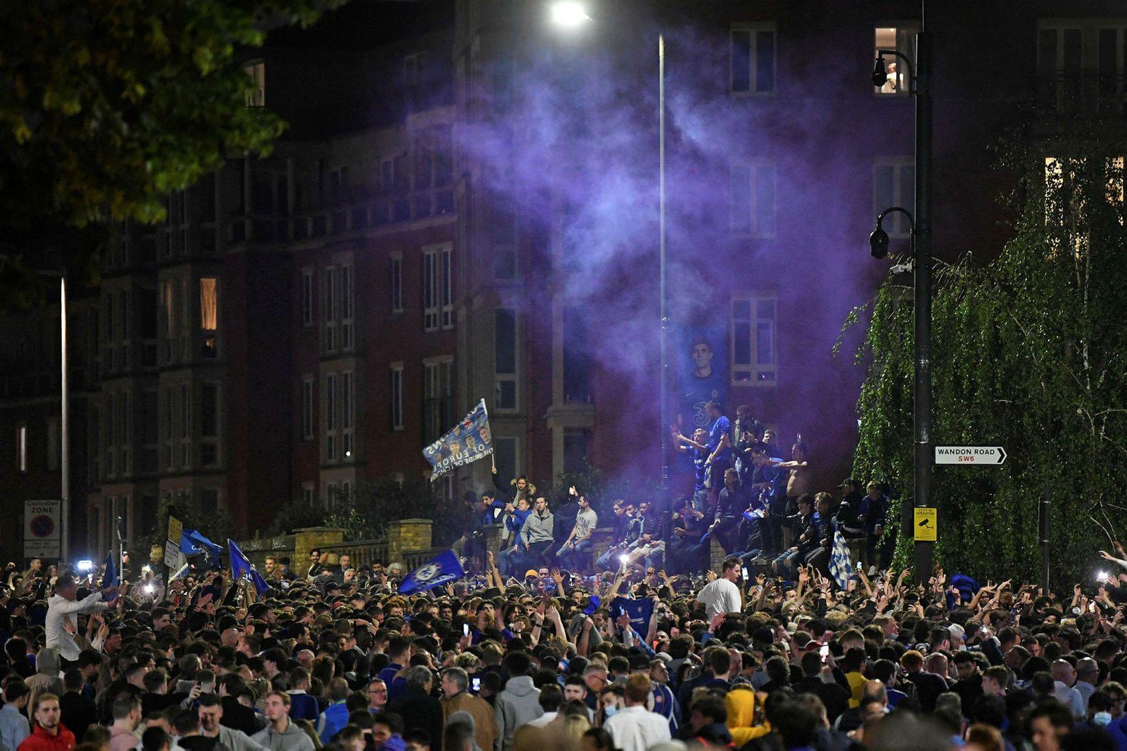 Í nágrenni Stamford Bridge, heimavallar Chelsea í Fulham-hverfinu í Vestur-London …