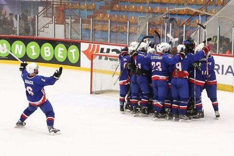 The Icelandic team celebrating their victory.