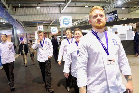The Icelandic chef's team