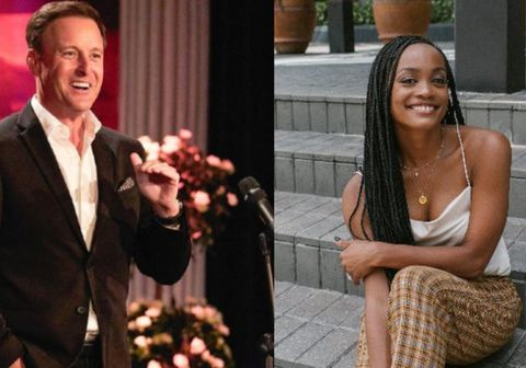 Chris Harrison og Rachel Lindsay.