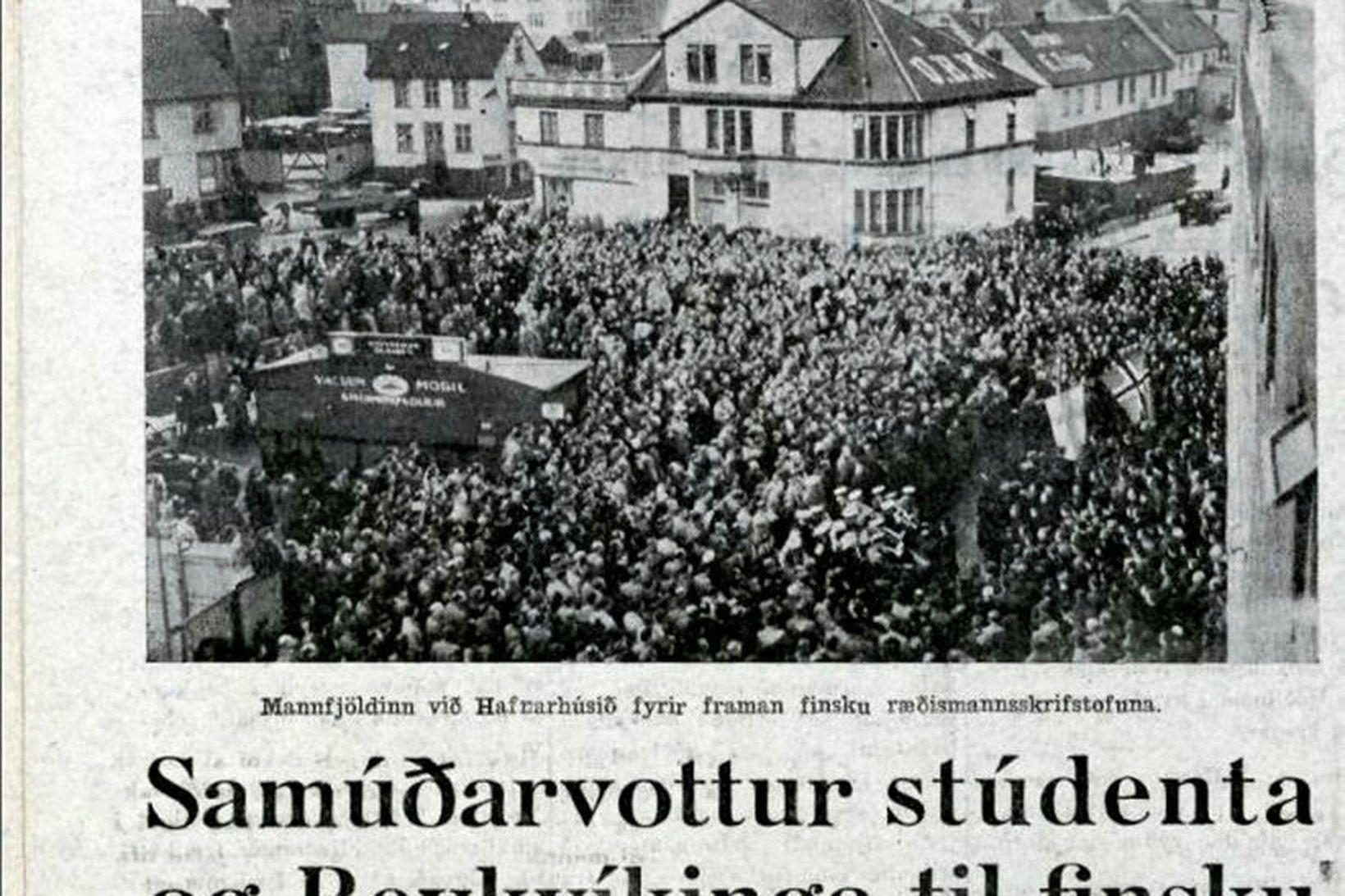 Íslendingar sýndu Finnum mikinn stuðning 1. des. 1939.
