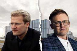 Róbert Wessman, forstjóri Alvogen, og Halldór Kristmannsson, fyrrverandi framkvæmdastjóri hjá félaginu.