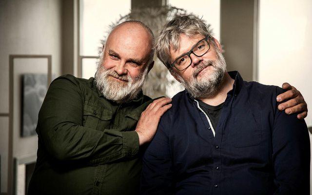 Þorkell Harðarson og Örn Marinó Arnarsson leikstjórar standa að heimildarmyndum um Guðmund ásamt Guðbergi Davíðssyni …