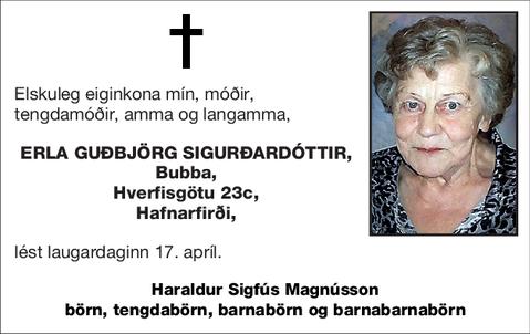 Erla Guðbjörg Sigurðardóttir,