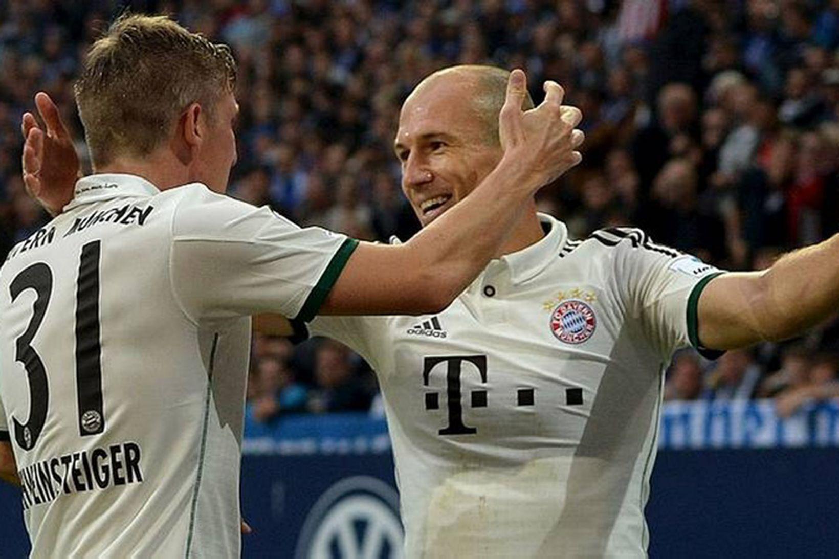 Arjen Robben og félagar hans í Bayern München léku listir …
