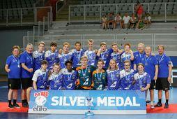 Ísland vann silfur á EM U18 fyrir tveimur árum.