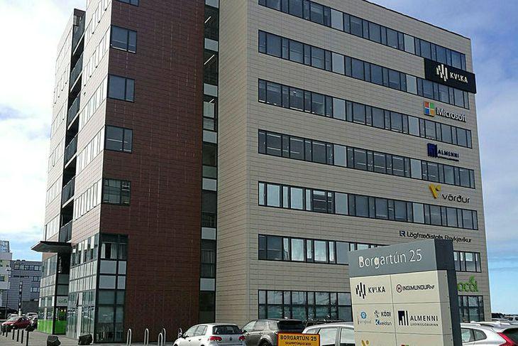Höfuðstöðvar Microsoft á Íslandi hafa verið í Borgartúni.