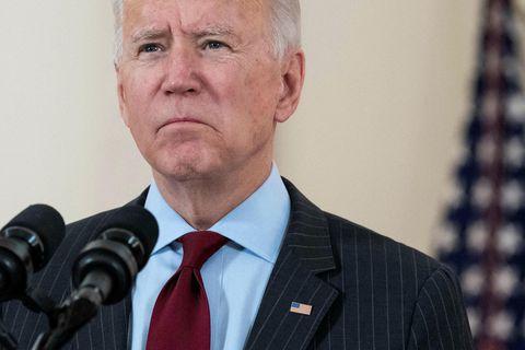 Joe Biden Bandaríkjaforseti flytur ræðu sína.