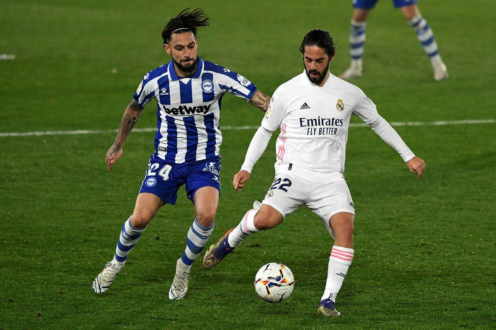 Alavés vann óvæntan sigur á Real Madrid í kvöld.