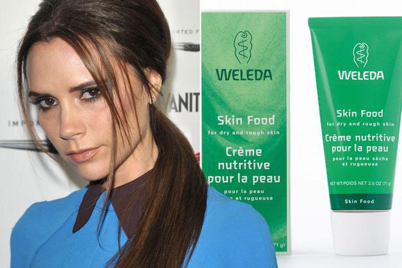Victoria Beckham notar Weleda Skin Food kremið.